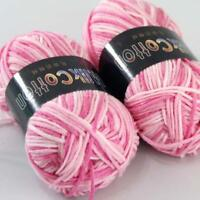 AIP Soft Baby Cotton Yarn New Hand dyed Wool Socks Scarf Knitting 2Skeinsx50g 01