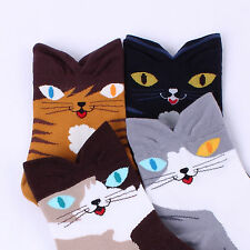 Katze socken Damenmode socken 4pairs=1Paket CATS Hergestellt in Korea[DEFX2]