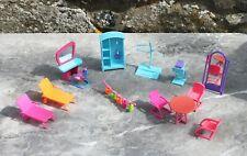 Lot  13 x meubles chaises accessoires pour Polly Pocket (koka)