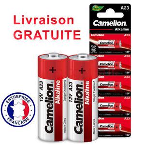 Pile 23A 12V Camelion a23 V23GA LRV08 Unitaire ou par Lot de 2, 5, 10
