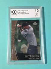 Tiger Woods 2001 Upper Deck Stat Leaders BCCG-10 Mint Rookie Card