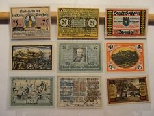Germany Notgeld Currency*Assortment Of Nine Different*Lot X5*