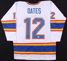051e5ec29 Adam Oates Signed White St. Louis Blues Jersey (JSA COA)   NHL HOF