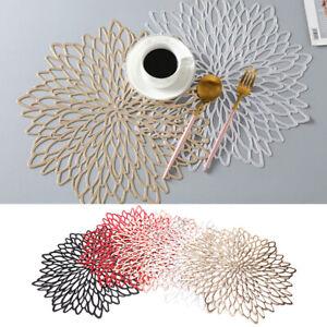 Petal Cutout Tablecloth Placemat Decoration Home Coasters Pad Table Bowl Mat.ji