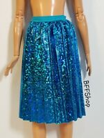 NEW! BLUE MID PLEATED SKIRT BARBIE FASHIONISTAS FASHION CLOTHES HALOGRAM