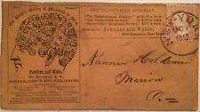 all-over Phrenology advertising cover with 3c 1851 imperf (Scott 11)