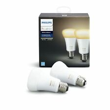 Philips Hue 2-Pack White Ambiance 60W Equivalent Dimmable Led Smart Bulb (Works