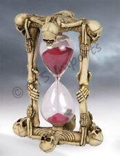 NEW Skull & Bones Skeleton Sand Timer Hourglass Collectible Figurine Halloween