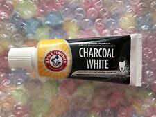 Arm & Hammer Charcoal White Toothpaste 25ml Travel Size Teeth Whitening