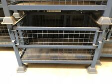 Steel Stillage , Metal Pallet , Stackable , Storage Container, Drop Down Front
