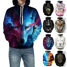 Unisex Hoodie 3D Galaxy Sweatshirt Halloween Jacket Coat Pullover Sweater Tunic