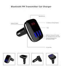 Bluetooth Car FM Transmitter Wireless Radio Adapter 3 USB Charger For iPhone 6