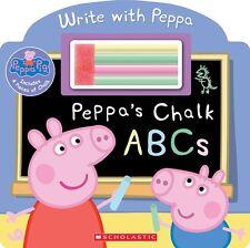 Peppa Pig : Peppa's Chalk ABCs (board book) includes chalk NEW