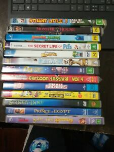 Kids Animation 13 X Dvd Bundle Ice Age Monsters Disney Scooby Spongebob