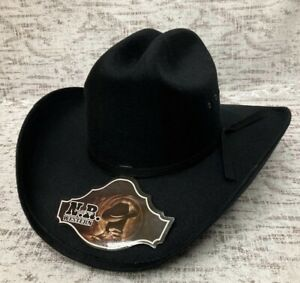 MEN'S WESTERN COWBOY RODEO HAT BLACK FELT STYLE COWBOY RIDING HAT TEXANA VAQUERA