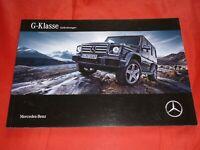 MERCEDES W463 G-Klasse G 350 d G 500 AMG G 63 AMG G 65 Prospekt Brochure 2015