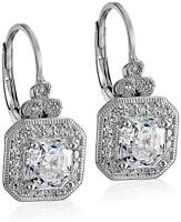 Platinum Plated Sterling Silver Antique Drop, Platinum-Plated, Size No Size