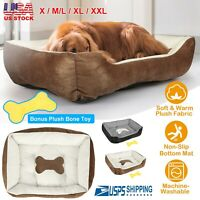Pet Dog Bed Soft Warm Puppy/Cat Kennel Plush Sofa Bed Cozy Cushion Mat Blanket