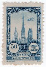 (I.B) France Cinderella : Poste Par Avion 50c (Rouen 1922)