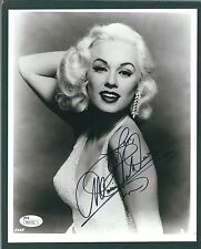 Mamie Van Doren Signed 8x10 photo JSA Authentic Actress Model