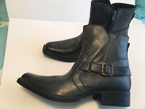 New Rock & Republic Mens Black/gray Ankle Boots US Sz 13M