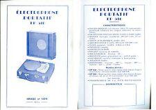 Publicité électrophone portatif tourne-disques EP 510 phono Image & Son