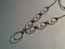 STERLING SILVER HANDMADE  SPARKLY DIAMOND CUT NECKLACE ITALY 925 NEW WITH TAGS