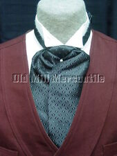 ascot tie adjustable mens grey and black old west victorian style wedding