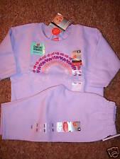 NWT Hanes Premium RAINBOW Jogging Set Suit 6M NEW Lavender Baby 6 month Girl Lot