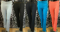 Ladies Skinny Fit Coloured Jeggings Stretchy Womens Jeans Adults Trousers 8-14