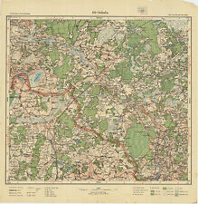 1926 Vintage army topographic map SUBATA/ SUBATE (Latvia/Lithuania),1:75 000