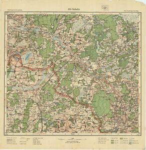 1926 Vintage army topographic map SUBATA/ SUBATE (Latvia/Lithuania),1:75 000