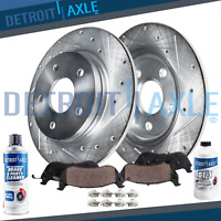 Rear Brake Rotors + Brake Pads Honda Odyssey Rotor Brakes Pad kit Drillled