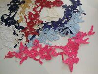 A cotton floral lace Applique / dress making sewing lace motif various colours