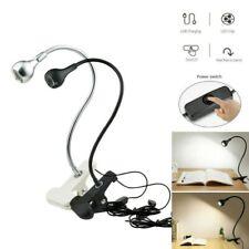 Flexible USB Reading LED Light Clip-on Beside Bed Desk Table Lamp Warm White US