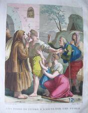"""Vintage COLORED PLATE,Nuova Raccolta,1826,""""Ama Iddio Di Cuore E Lascia Chi Vuole"""