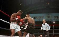 Old Boxing Photo Mike Tyson Throws A Punch Against Tyrell Biggs 1