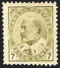 Canada #92 7c Olive Bistre 1903 King Edward VII  XF *MLH* CV $400
