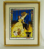 Limited Disney Beauty & the Beast Lithograph 2027/2500 w/ Master Film Cel