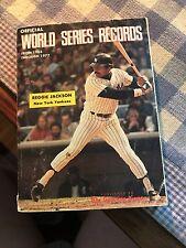 1903 1977 MLB Sporting News World Series Record Book NY Yankees Jackson  cover