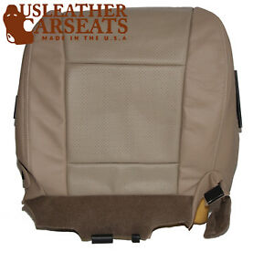 2008 Mercury Mountaineer Driver Side Bottom Leather Seat Cover 2 Tone Tan