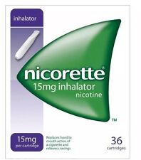 6 Packs of Nicorette 15mg Inhalator 36 Cartridges--2020 Expiry