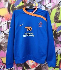 Netherlands Soccer National Team KNVB Football Longsleeve Sweatshirt Nike Mens M