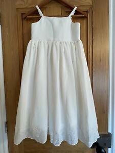John Lewis Ivory Cream Bridesmaid Christening Event Dress Age 7-8