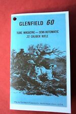 Small Owner's Manual for a Glenfield Model 60 Semi Auto 22 Caliber Rifle