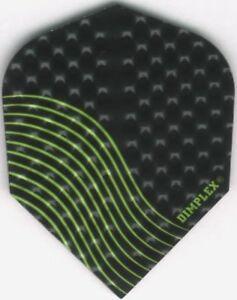 Black and Green Dimplex Dart Flights: 3 per set