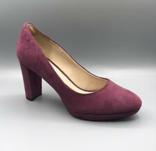 "NEW Clarks ""Kendra Sienna"" Ladies Plum Suede Smart Heels UK 5.5 D / EUR 39"
