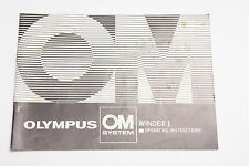Olympus OM Winder 1 Operating Manual Instruction Book - English - USED B10