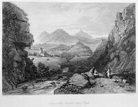 GREECE INACHUS RIVER Panitsa ARGOS ARGIVE PLAIN ~ 1839 Art Print Engraving RARE!