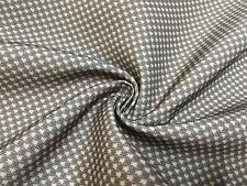 GORGEOUS GREY POLYESTER LINEN PRINT FIRE RESISTANT FABRIC 8 METRES.